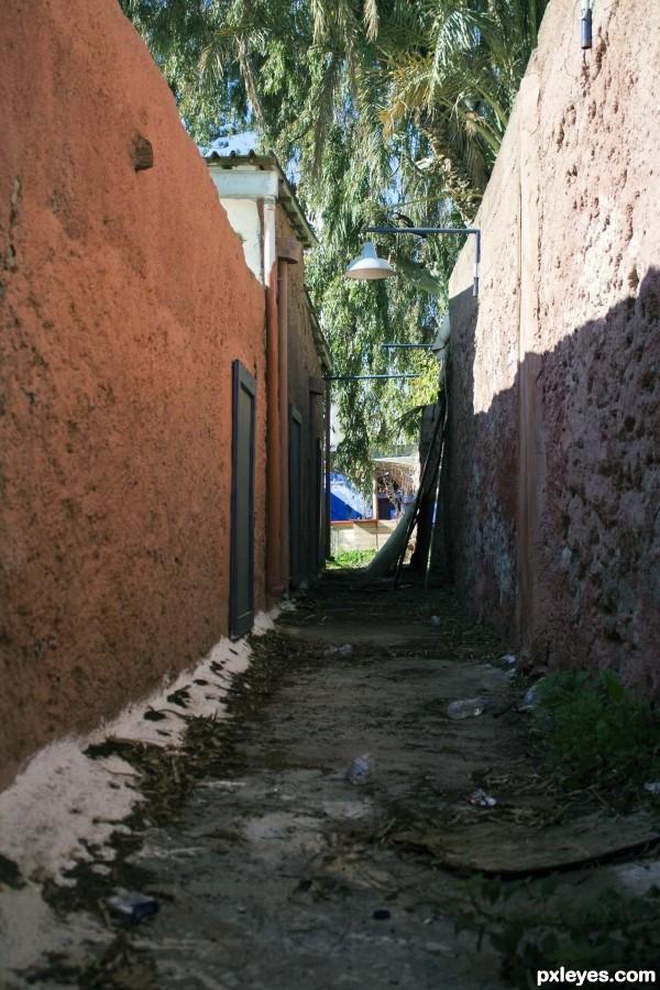 Dirty alleyway