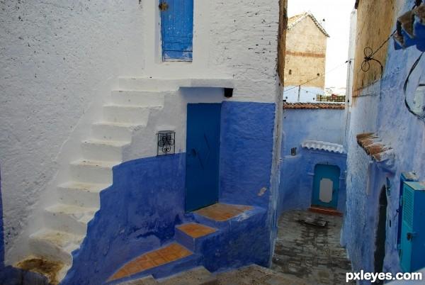 Blue alleyway