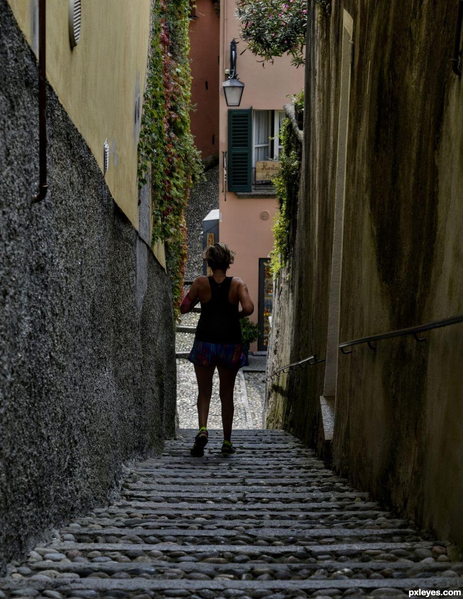Alleyway Jogging