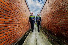 Police in the alley