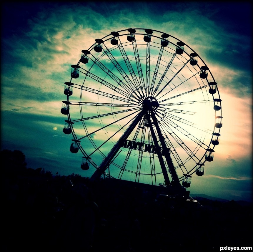 Big Wheel at T in the park photoshop picture)