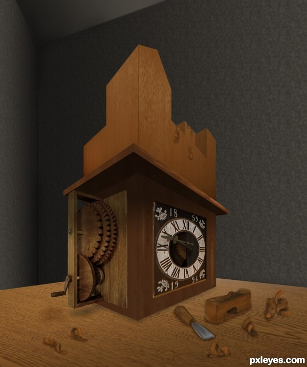 Creation of Ancient Clock Box: Final Result