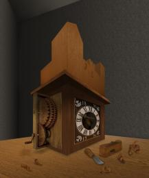Ancient Clock Box Picture
