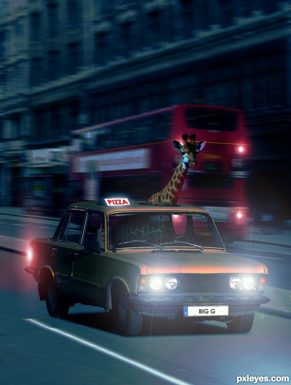 Pizza Delivery Giraffe