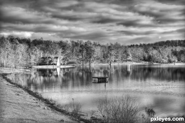 Church on the lake