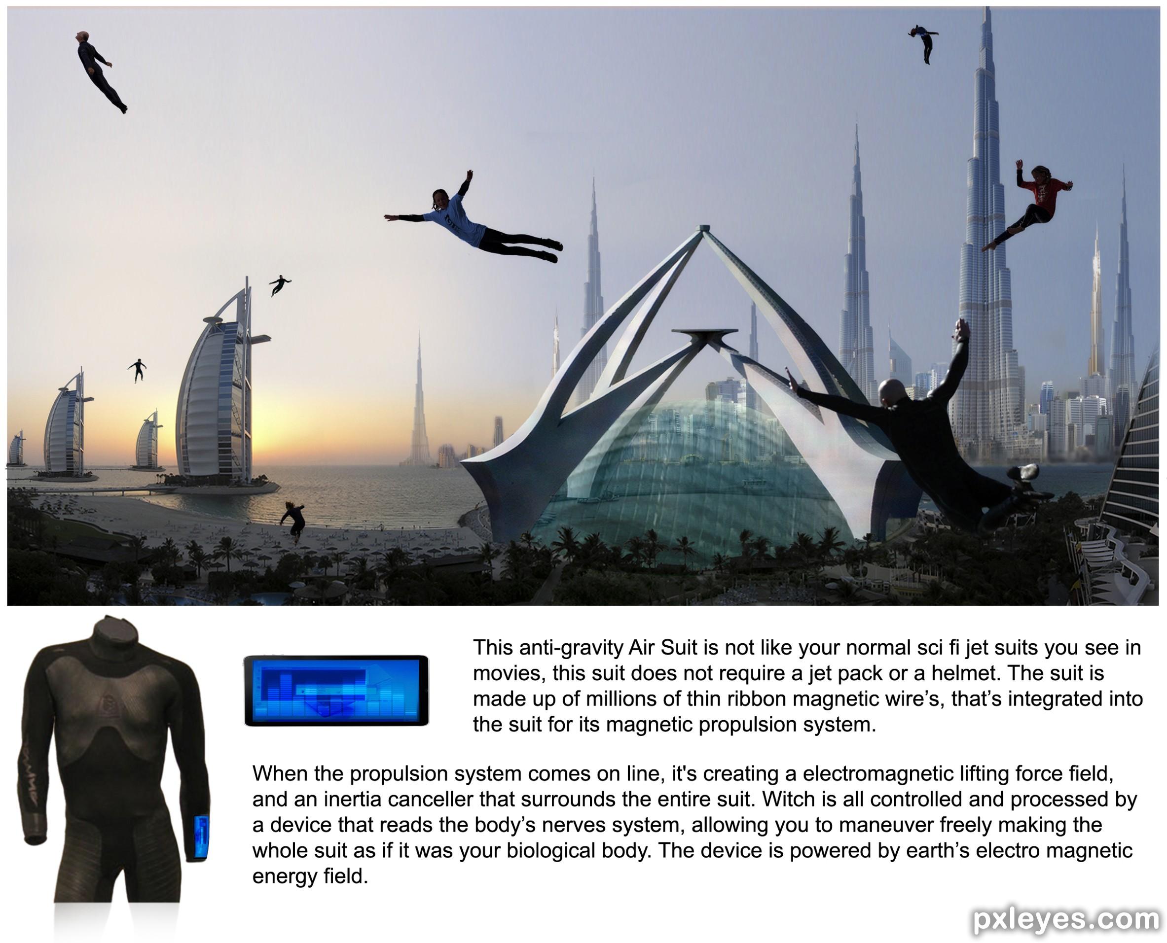 Anti-gravity Suit Photoshop Contest (21357), Pictures Page 1
