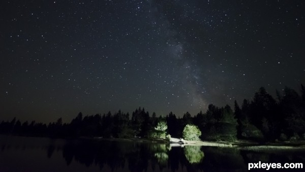 Interrupted Milky Way shot