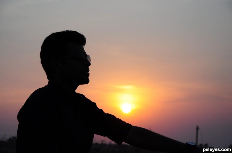the amazing sunset.....
