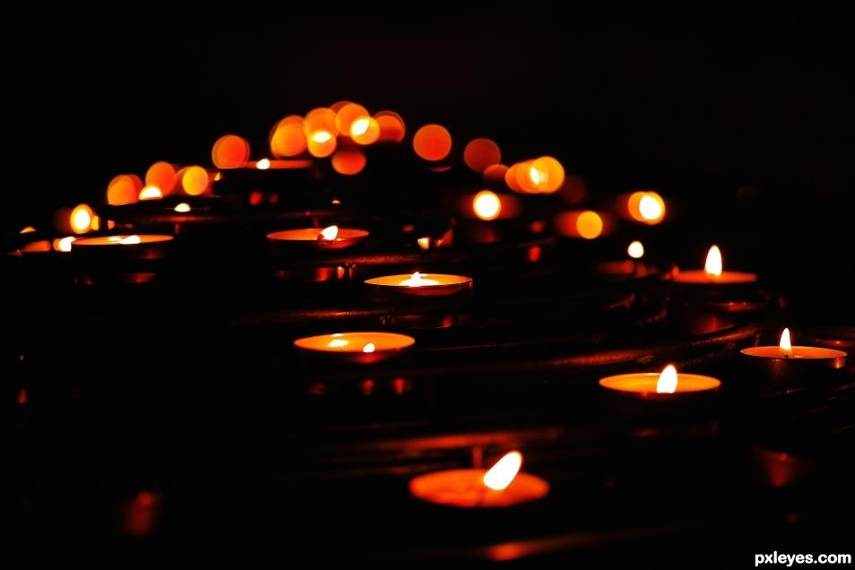 Candles bokeh