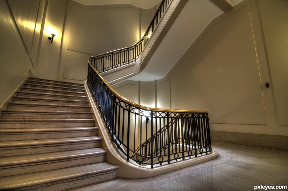 Marble & Brass Stairway