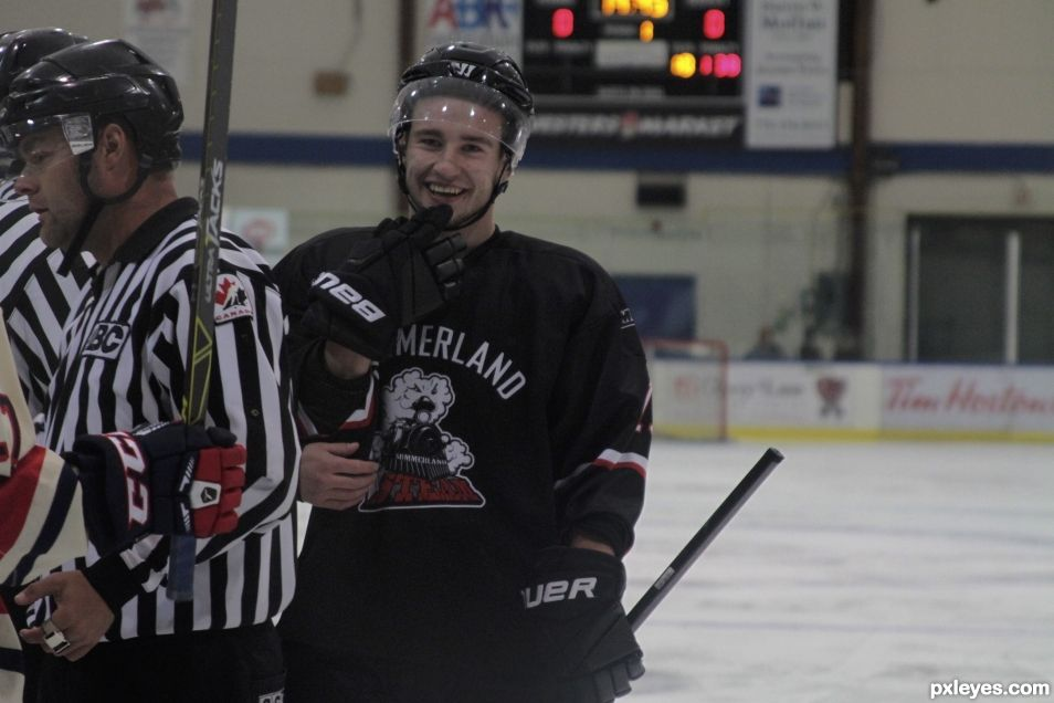 all smiles on the ice