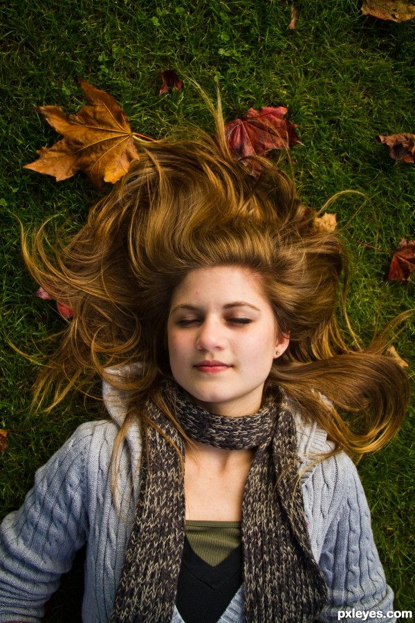 Fall Beauty photoshop picture)