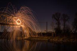 Burning bridge Picture