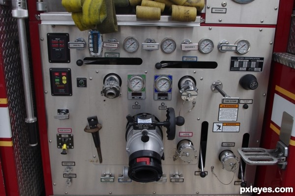 Inside look at a fire truck