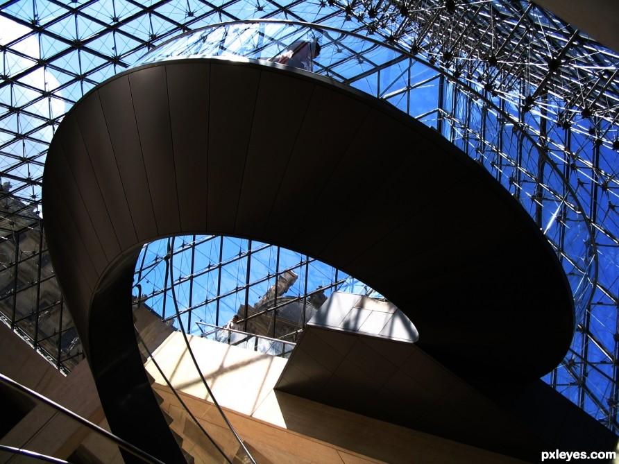 Louvre, Glass pyramid