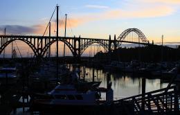 Harbor at evening