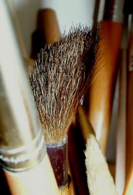 Brown Bristle Brush