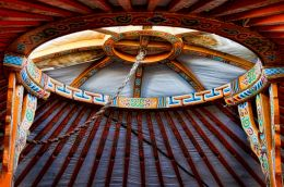Roof opening of Yurt