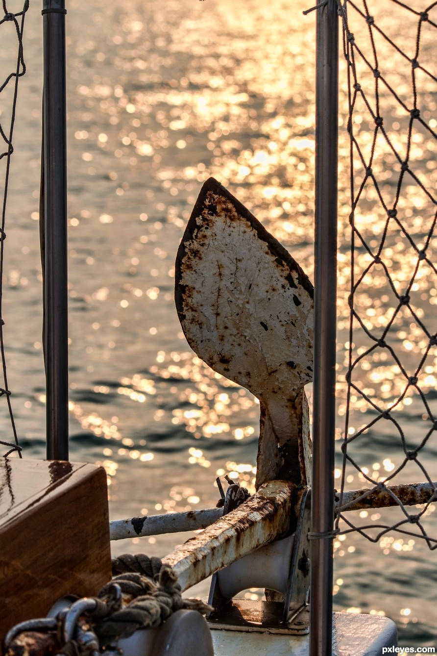 Anchor at sunset photography picture
