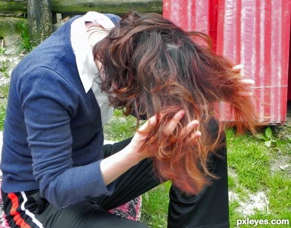 a big mess of hair