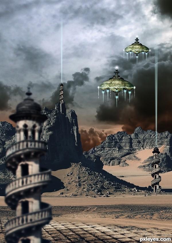 Alien landing field
