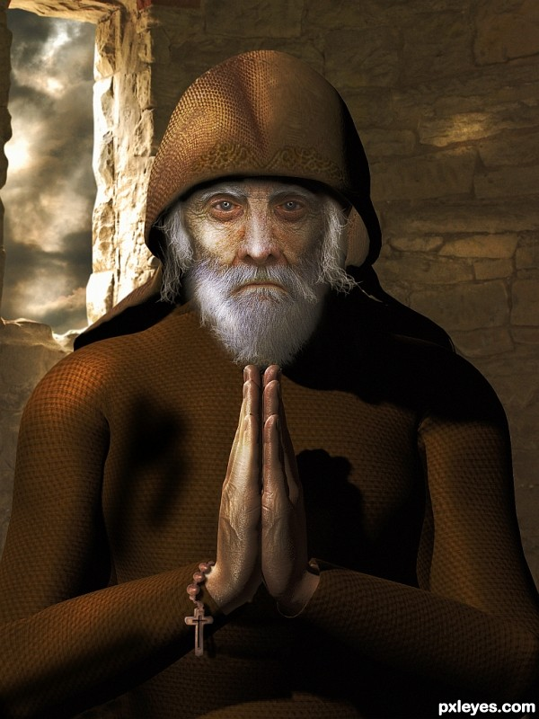 Monk photoshop picture