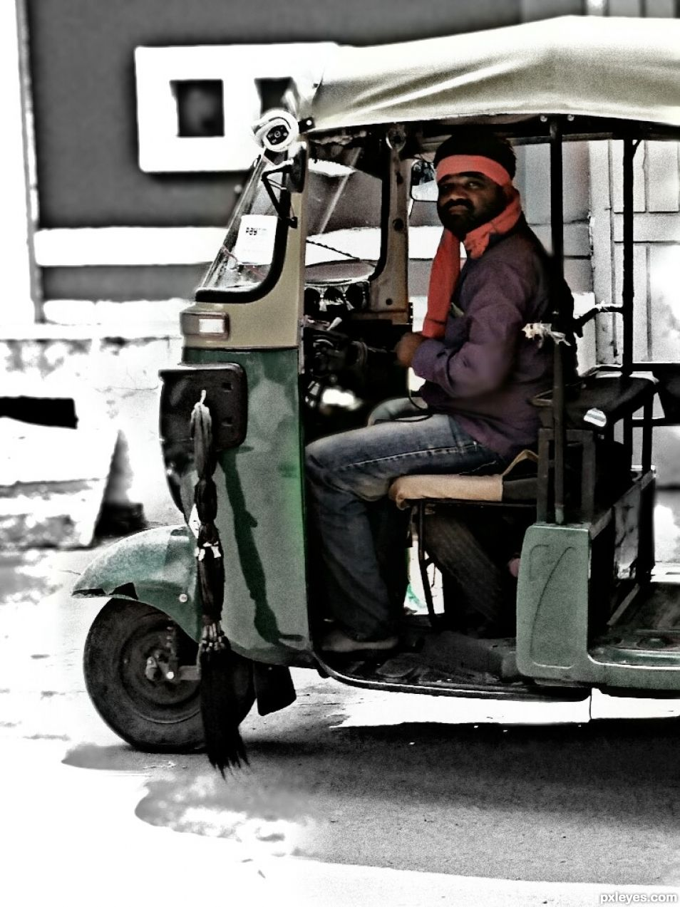 Indian auto drivers