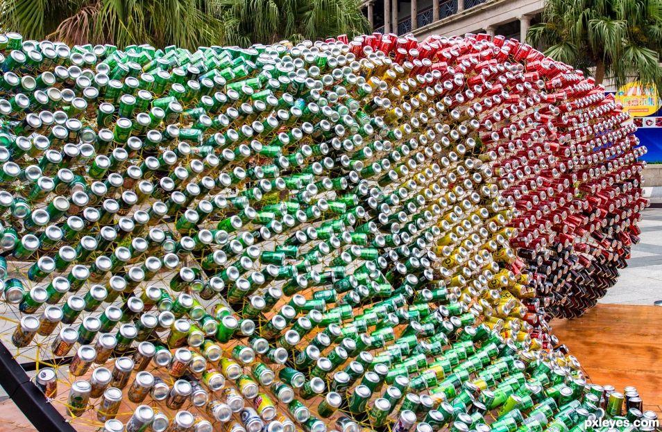 Beer can sculpture