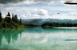 Boya lake Canada, 5 silver disc shaped flying saucer sighting in 1964
