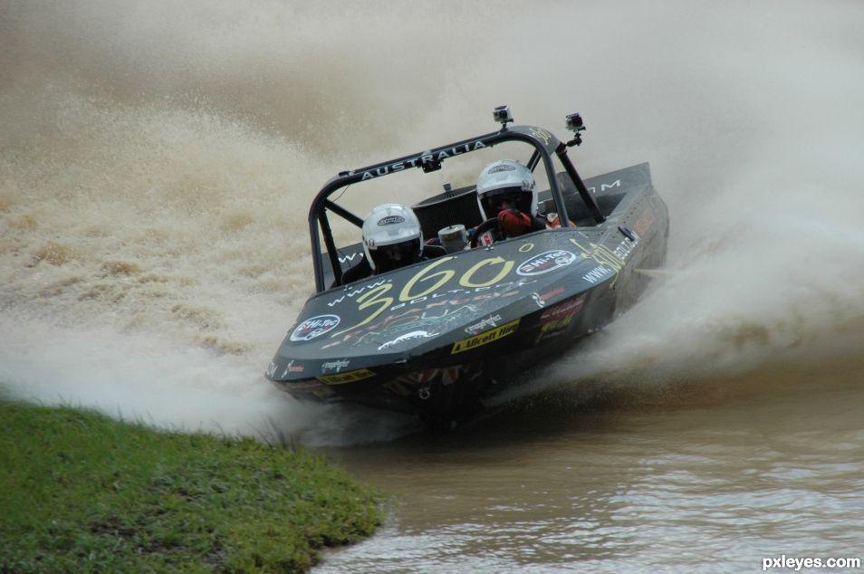 v8 super boat