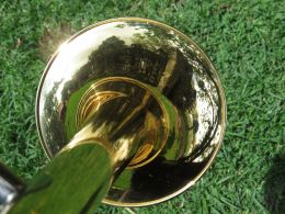 Landscape on a trumpet