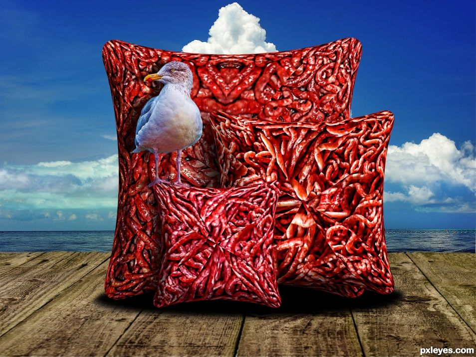 Meat Pillows by the Sea