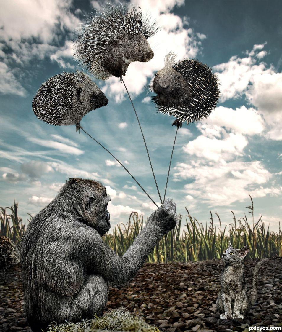 Spiky balloons