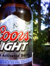 Coors and campfire