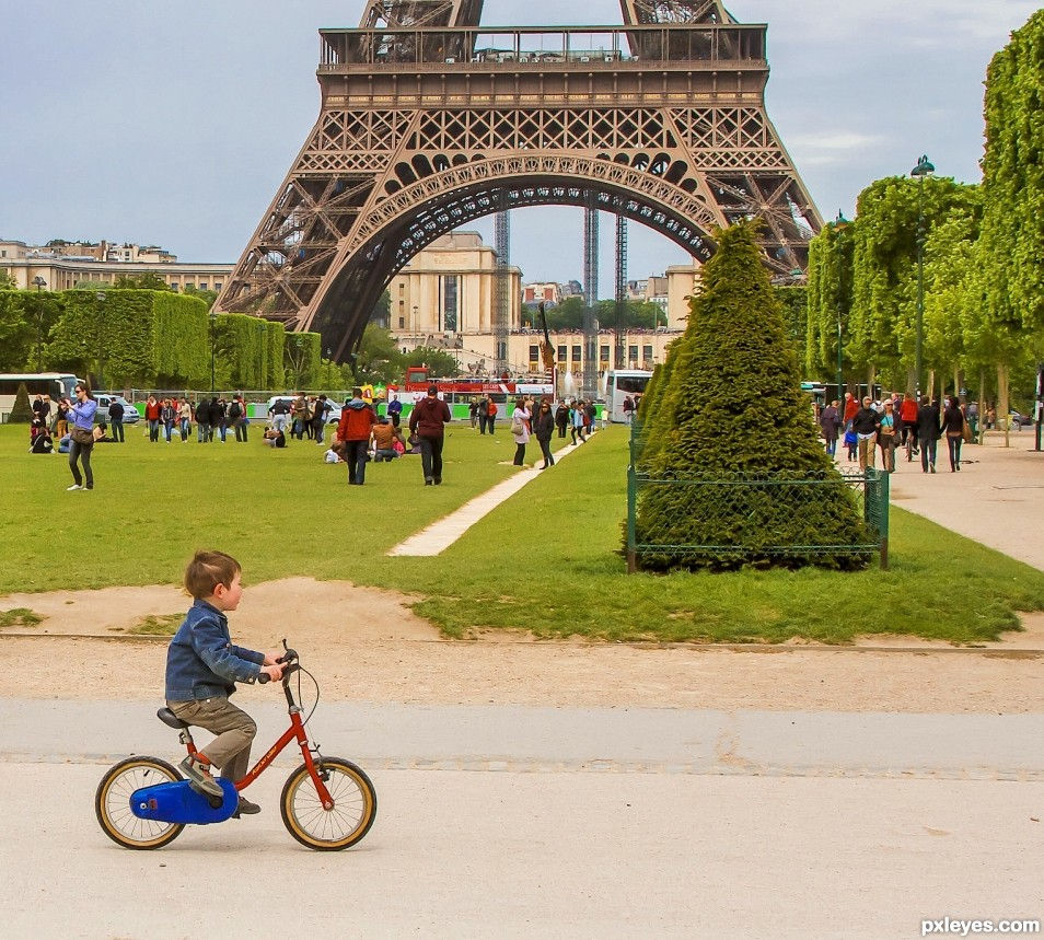 starting off young in Paris