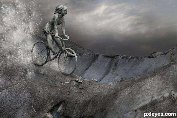 Biking downwards