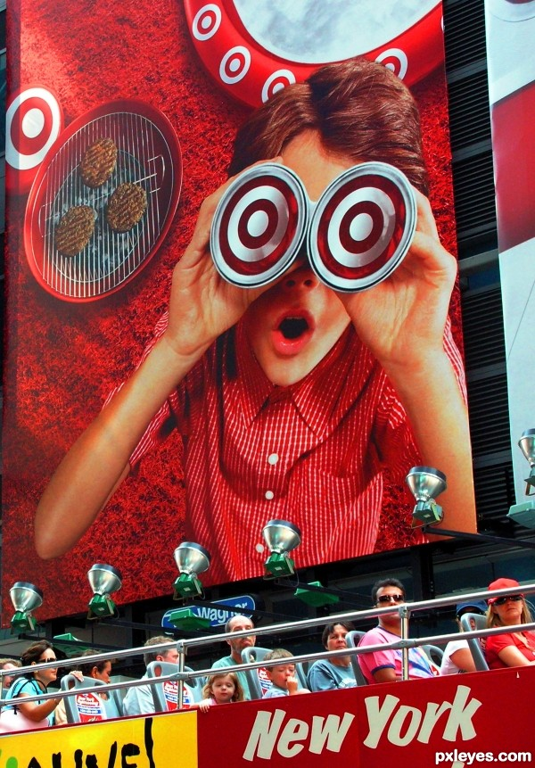 Target Tourists photoshop picture