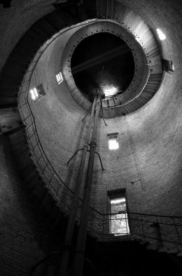 inside the water tower