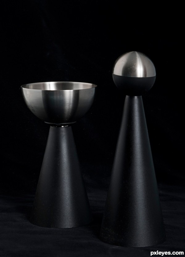 black and stainless
