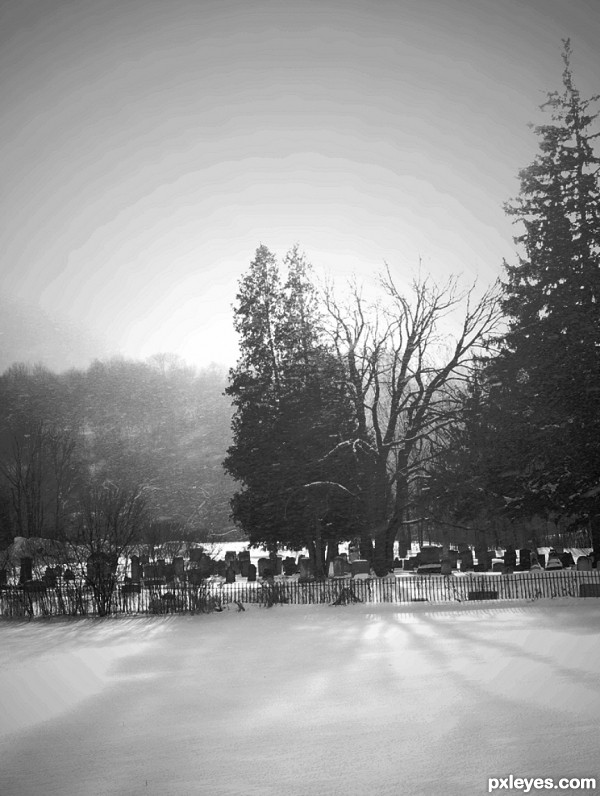 Snowing on Graves