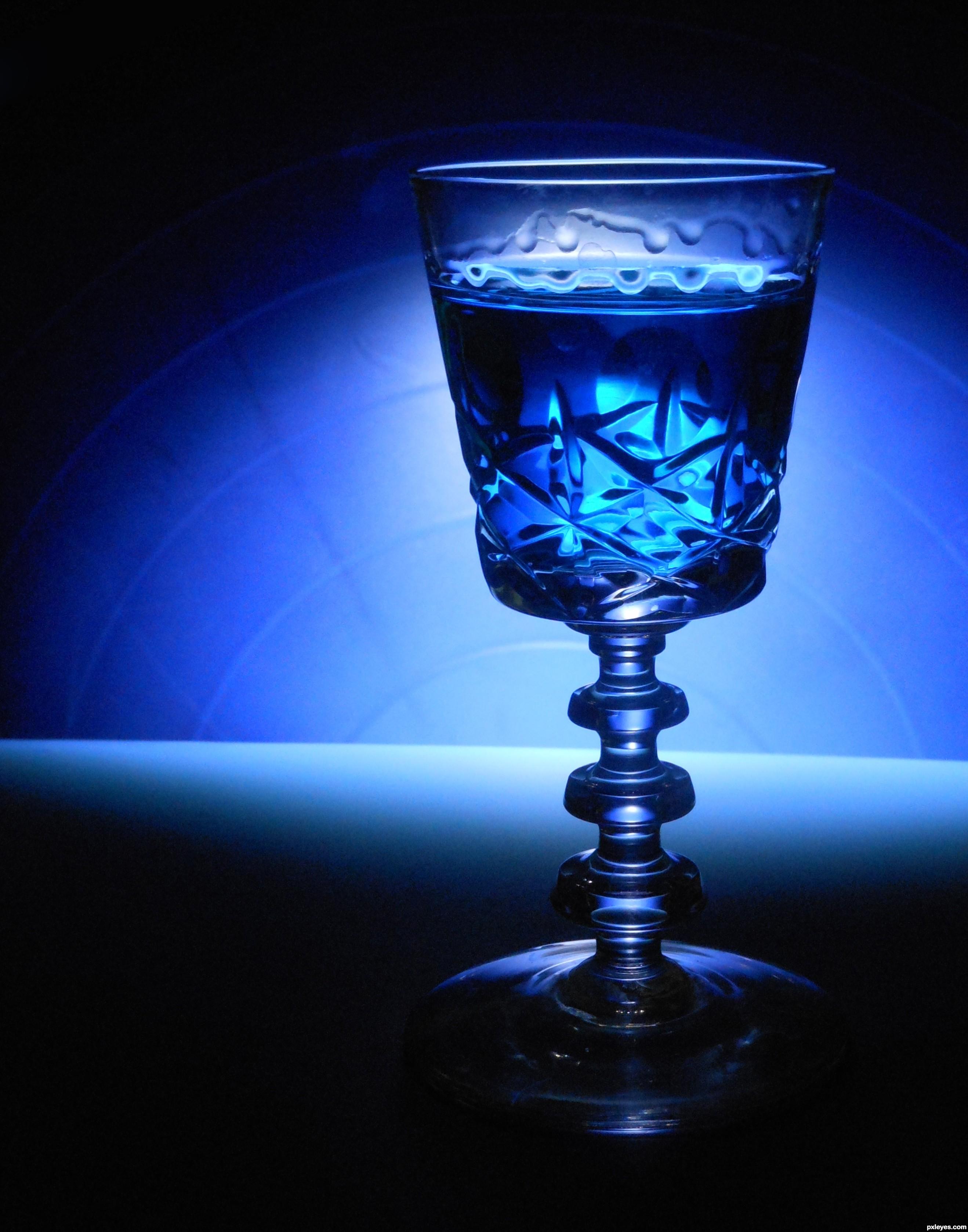 Blue on blue on blue