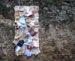 books hanging