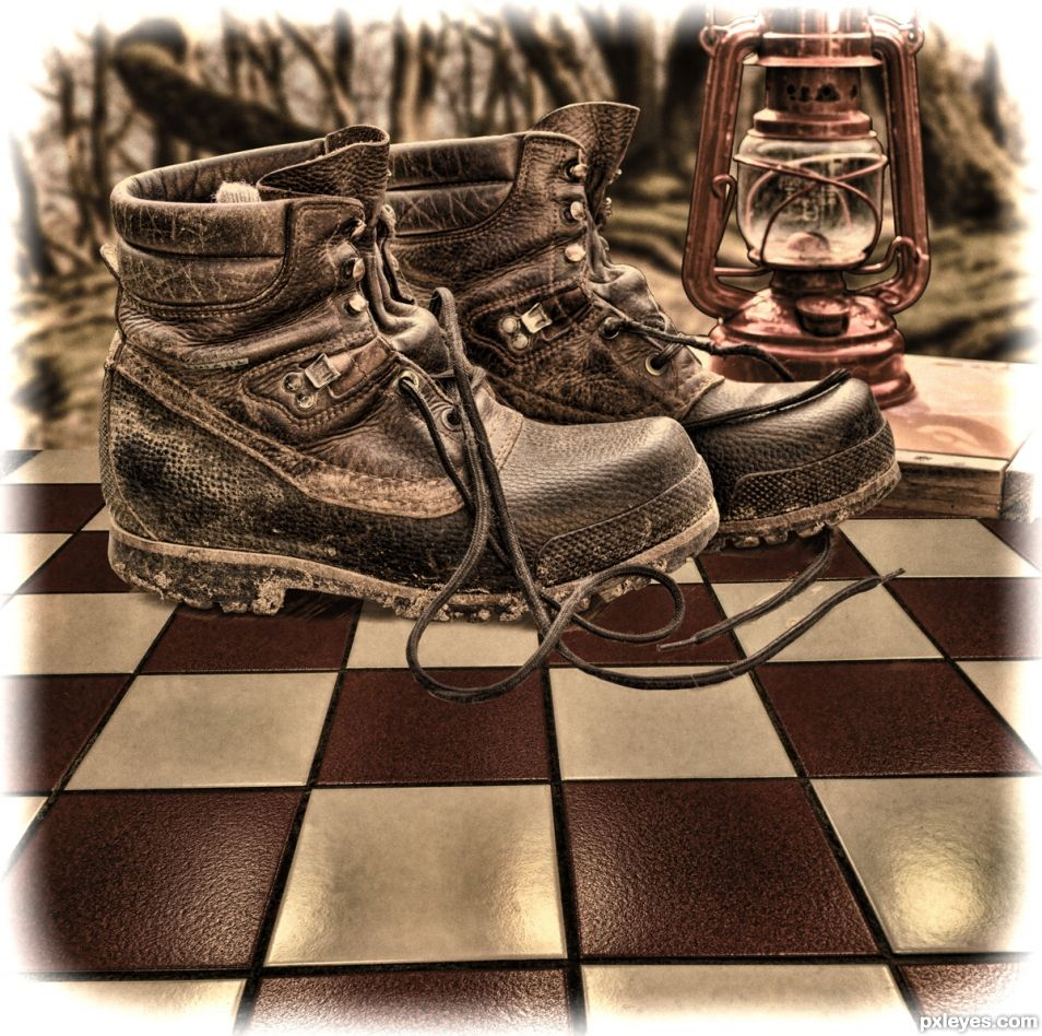 Tiled Forest Boots