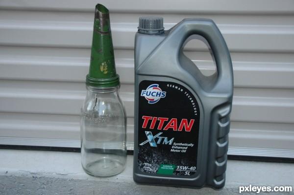 Old & new Oil bottles