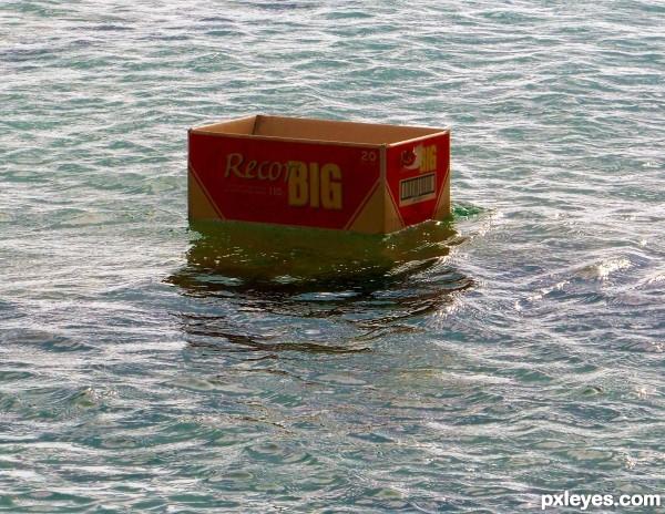 Box sailing away...