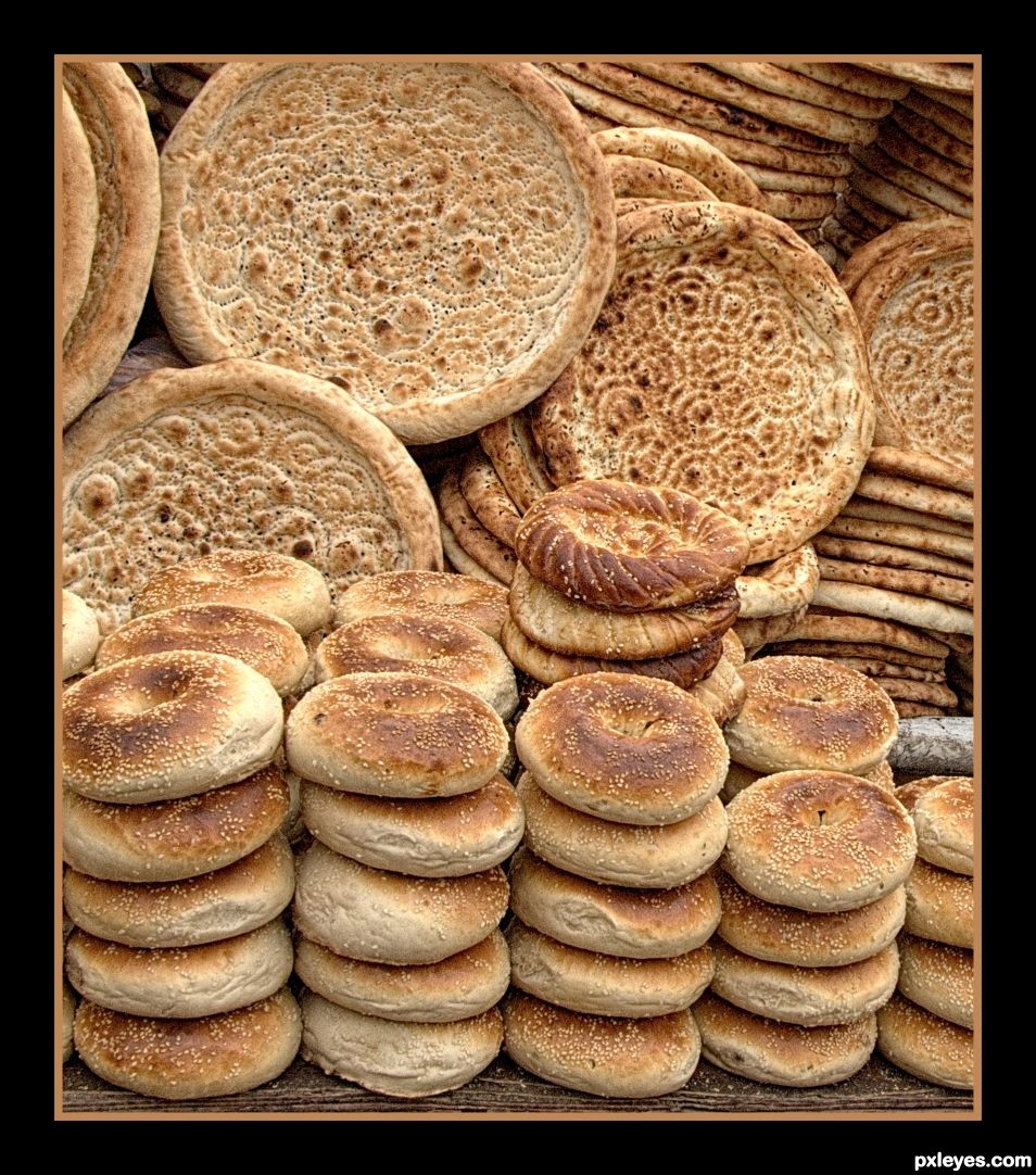 Uyghur Bread Cart
