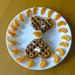 Heart Shaped Waffles  Picture