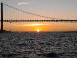 Bridge over the Tagus river