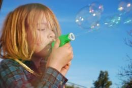 blowingbubbles