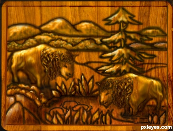 The Watering Hole Carving